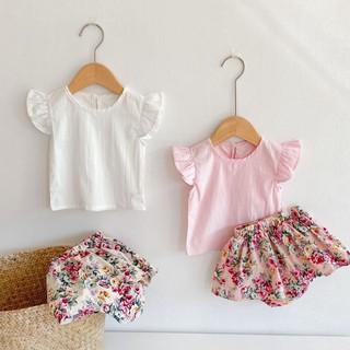 [Mã FARSBR242 giảm 15% đơn 99K] Bộ Đồ Bé Gái Chân Váy Hoa Nhí Kèm Áo Đũi Hàn Dễ Thương [S07-2021] – Babi mama