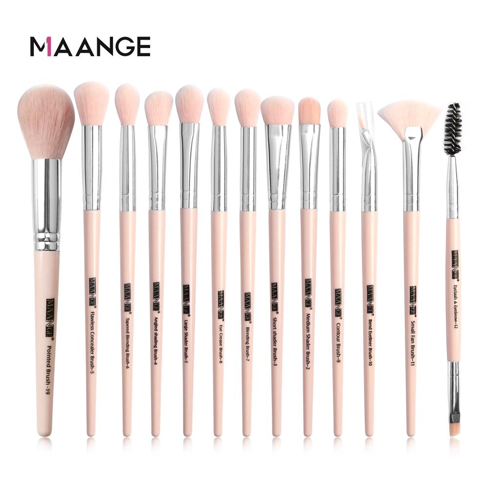 MAANGE Bộ 13 Cọ Trang Điểm Sử Dụng Chuyên Nghiệp Make up Brush Set