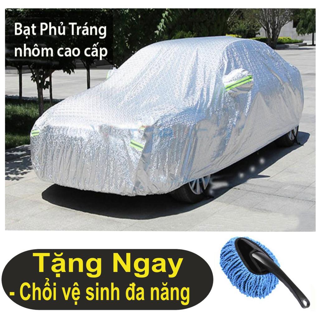 Áo trùm xe ô tô, xe hơi 7 Chỗ cao cấp, áo trùm có phủ nhôm bạc chống xước, ( Dài 5.3m) + tặng chổi đ