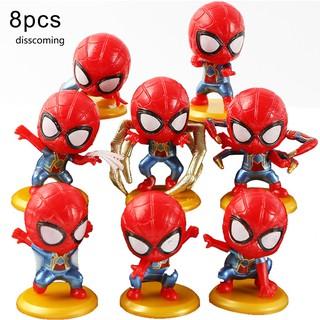 Set 8 mô hình người nhện đồ chơi trang trí đáng yêu