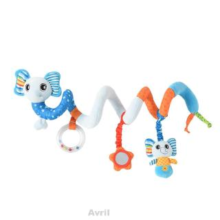 Baby Animal Shape Crib Decorations Gifts Hanging Soft Spiral Plush Toy