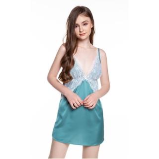 Dreamy VX07-18 Váy ngủ lụa cao cấp dáng xòe hai dây phối ren gợi cảm thumbnail