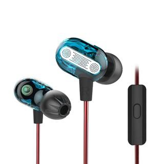 KZ ZSE 3.5mm In-Ear Double Dynamic Unit Driver Earphone HIFI Bass Noise Cancelling earpiece Earplug Headset Earbud