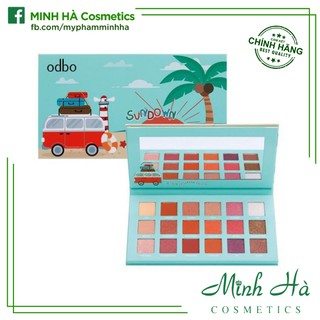 Bảng phấn mắt 18 ô Odbo Sundown 18 Color Eyeshadow Palette OD243 thumbnail