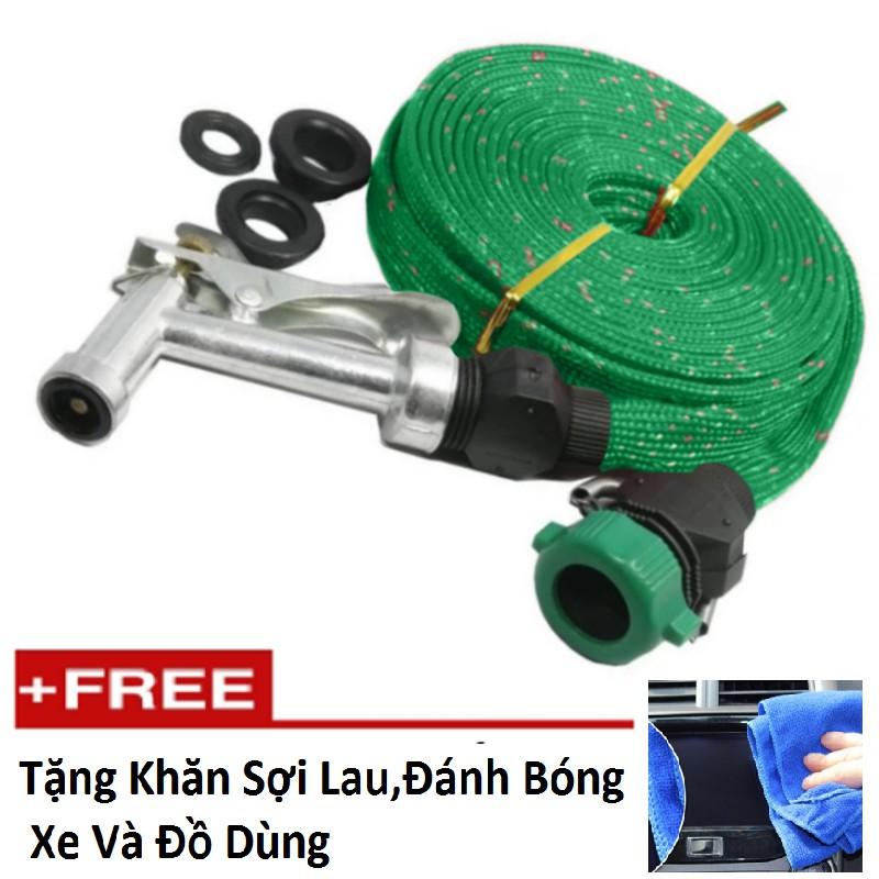 Vòi phun xịt nước rửa xe tưới cây đầu đồng dây 10m TI 166-2A Tặng kèm 1 khăn lau đa năng 275