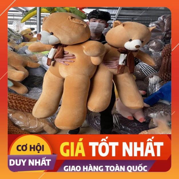 [HOT] Gấu Bông Teddy Khăn, Thú Nhồi Bông Cao Cấp Quà Tặng Đáng Yêu Chất Liệu Vải Nhung Hàn Quốc Size 1m-1m3