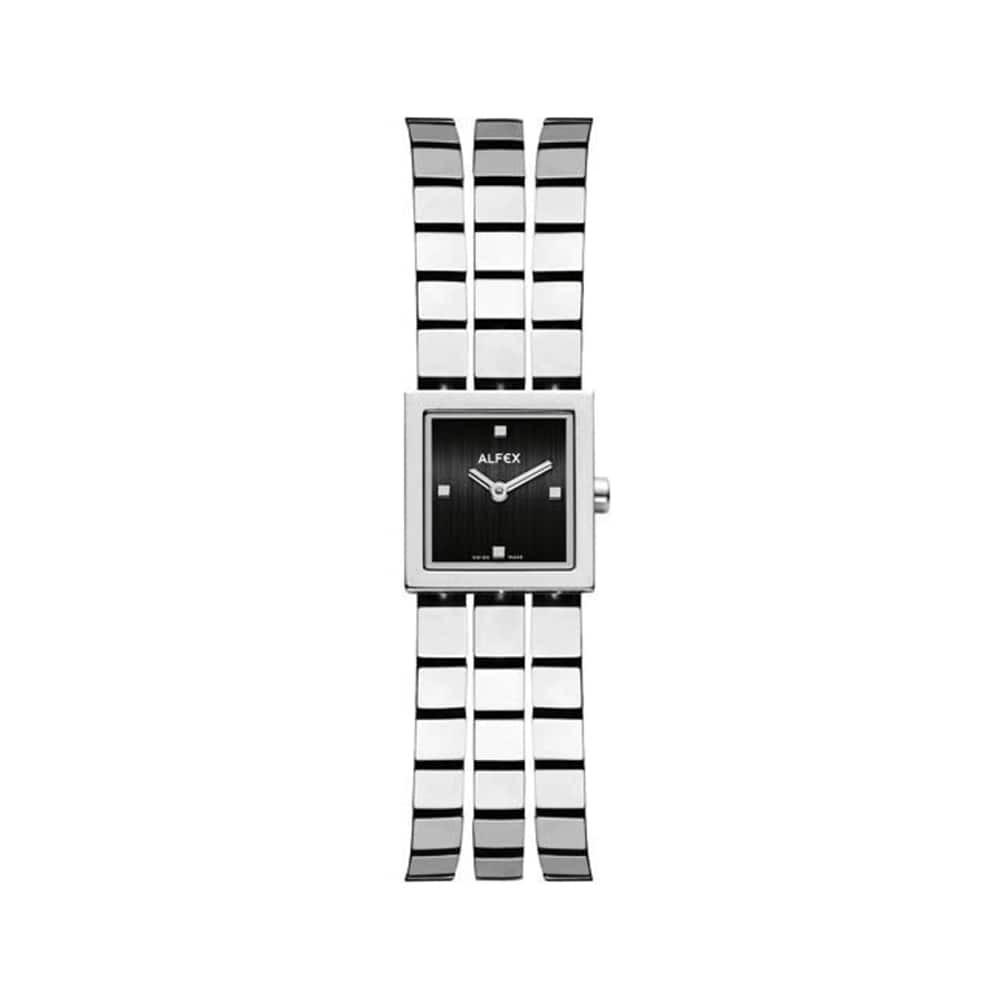 Đồng Hồ Thụy Sỹ Nữ ALFEX 5655/002 Mặt Vuông Size 18mm