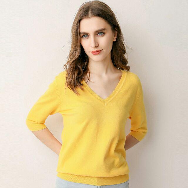 Áo len TAY LỠ cổ chữ V ( Quảng Châu)9