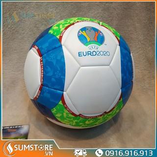 Quả Banh Bóng Đá Euro 2020 Họa tiết tròn – Hàng Đúc Cao Cấp, Size 5, tặng kèm kim bơm