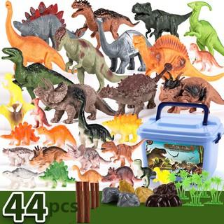 Bộ đồ chơi mô hình sưu tập công viên khủng long (30 con khủng long lớn nhỏ+ 14 chi tiết cây lá và viên đá)