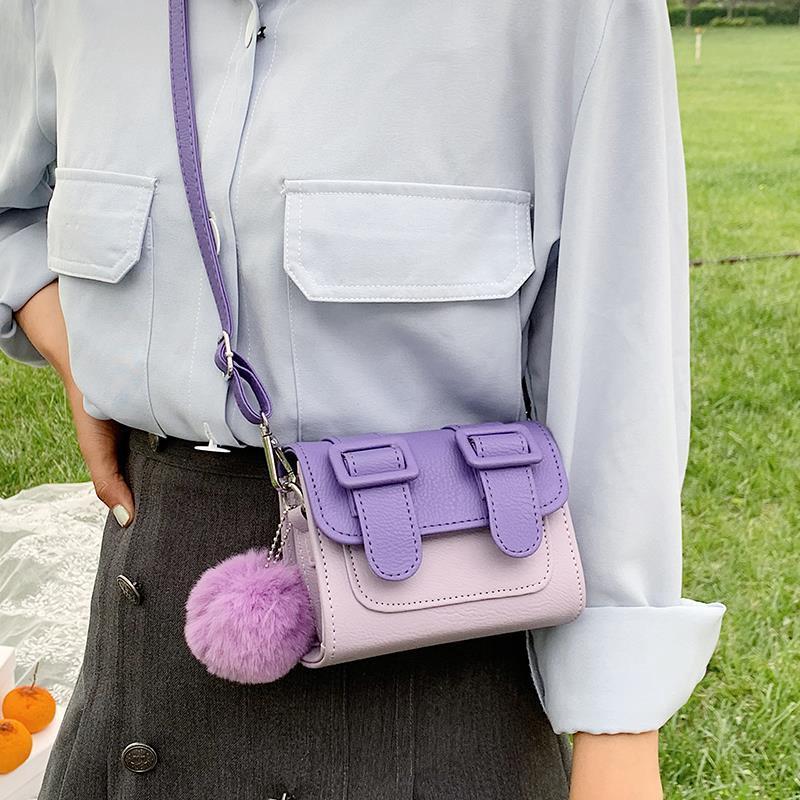 Túi nữ đeo chéo mini thời trang màu Macaron