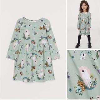 Váy thun mềm hoạ tiết xanh xiêu xinh xắn sz 1.5-2y, 4-6y, 6-8y