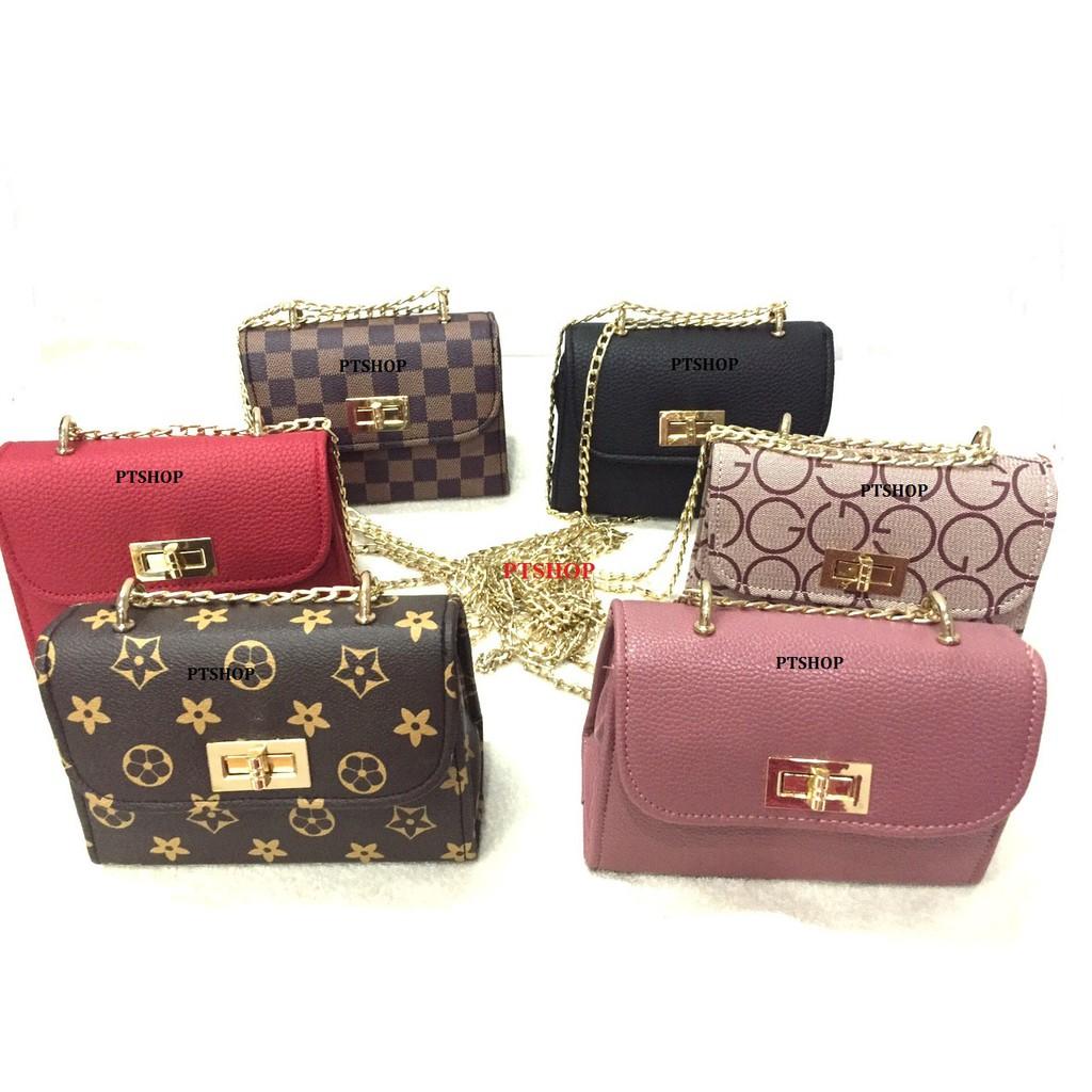 Túi xách nữ thời trang PT18/ túi khóa xoay to