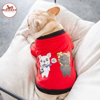 Áo cho chó HIPIPET thần tài chất mát 100% cotton, may đo theo tiêu chuẩn quốc tế thời trang xuân hè cho thú cưng-tài thumbnail