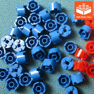 Phụ Kiện LEGO Gạch Trụ Tròn 2×2 Có Lỗ Trục Ở Giữa Màu Xanh Lam ID 614323 / 6143