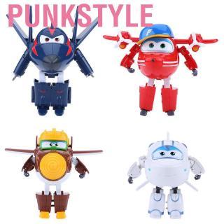 Punkstyle 4Types 12CM Plane Toy AnimationAction Figure Transforming Robot Airplane Kid Toys