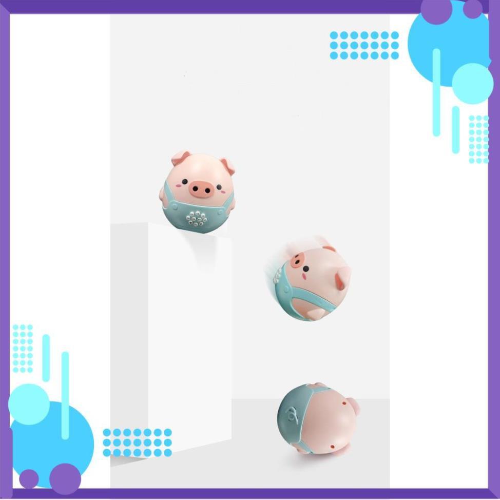 [FREESHIP] Đồ Chơi chú Lợn Lật Đật ( CHẠY PIN ) Phát Nhạc Có Gặm Nướu Silicon Cho Bé