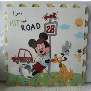 Bộ 4 miếng thảm xốp hoạt hình Mickey kt 60×60