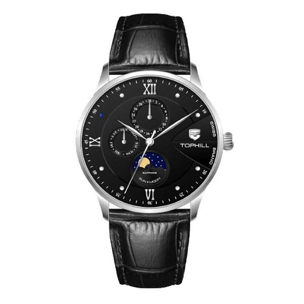 Đồng hồ Nam chính hãng TOPHILL TW085G - Dây da - kính Saphire