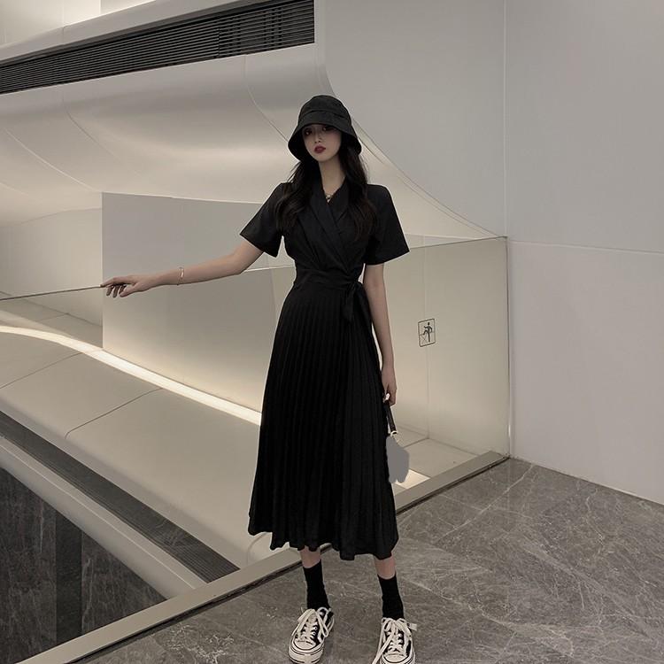 2852072091 - Chân váy dài màu trơn thời trang nữ tính
