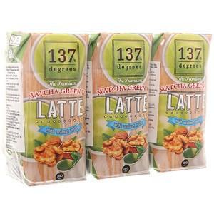 Sữa hạt óc chó trà xanh 137 Degrees (Lốc 3 hộp 180ml)