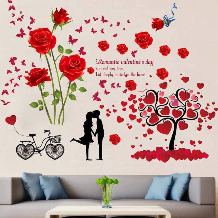 Bộ đôi decal dán tường cây trái tim + hoa hồng đỏ - 14565061 , 987327424 , 322_987327424 , 150000 , Bo-doi-decal-dan-tuong-cay-trai-tim-hoa-hong-do-322_987327424 , shopee.vn , Bộ đôi decal dán tường cây trái tim + hoa hồng đỏ