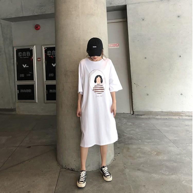 Đầm suông hình tròn cô gái M500