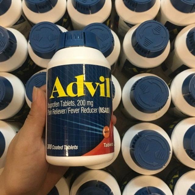 {Date 2020} -Thuốc trị đau nhức Advil 300vien của Mỹ