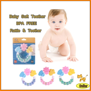 Baby teether Bell molar stick infant rattle bite teether toy