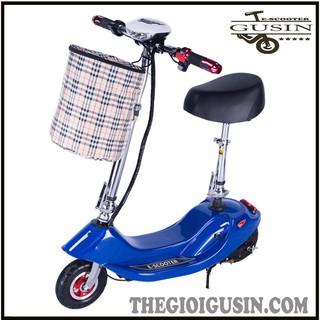 Xe Mini E-scooter Màu Xanh Dương / GuSin Phân Phối Chính Hãng Tp.HCM