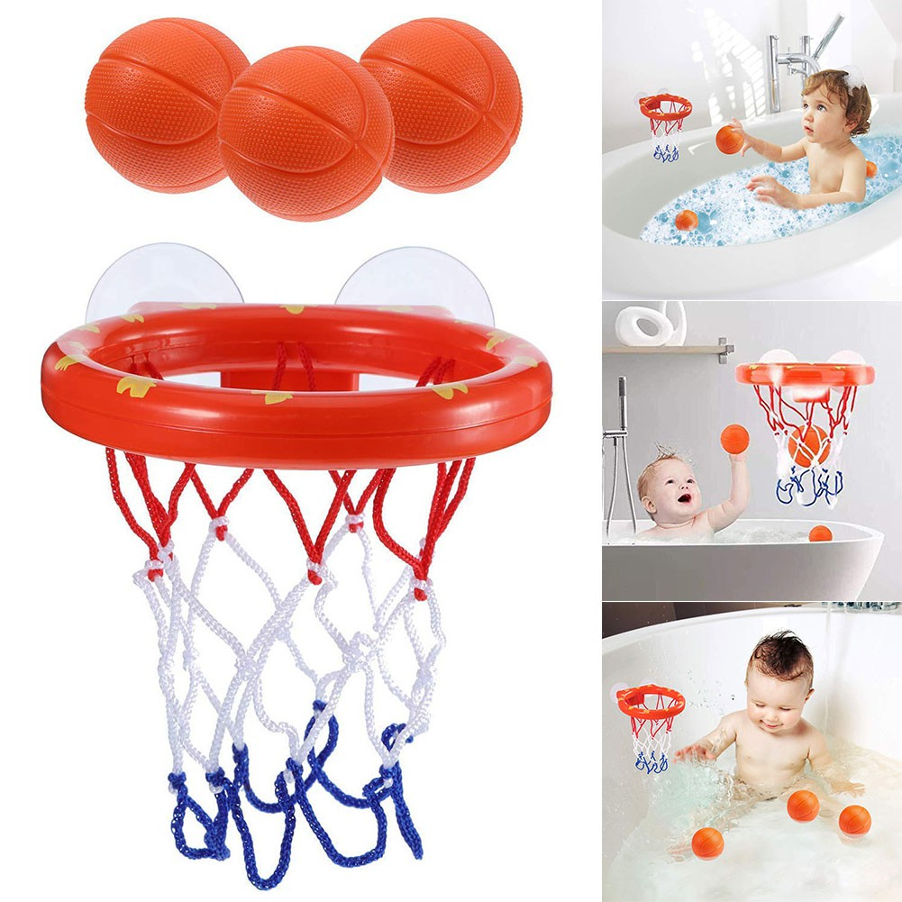 Toddler Bath Toys Kids Basketball Hoop Bathtub Water Play Set for Baby Girl Boy