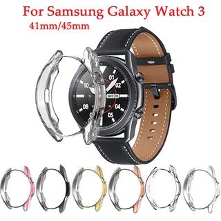 Vỏ Đồng Hồ Bảo Vệ Mạ Điện Cho Samsung Galaxy Watch 3 41mm 45mm  For Watch3