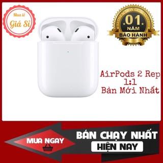 Airpods 2 Định Vị - Đổi Tên - Tai Nghe Bluetooth Nhét Tai Không Dây - Sạc Không Dây - Tháo Tai Dừng Nhạc Phiên Bản 2021
