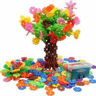 Hộp đồ chơi ghép hình hoa sáng tạo cho bé