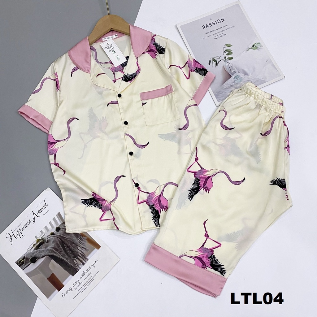 Mặc gì đẹp: Thoải mái với Đồ Ngủ Pijama Lụa Satin Tay Ngắn Quần Lửng Siêu Xinh, Mềm Mịn, Độc Lạ Khó Tìm, Sanh Chảnh Hàn Quốc