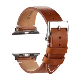 Dây Đeo Bằng Da Thật Cho Đồng Hồ Thông Minh Apple Watch Series 6 Se 5 4 3 38mm 40mm 42mm 44mm