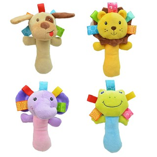 1PC Baby Toys Plush Stuffed Animal Baby Rattle Sticks Toys Hand Bells for