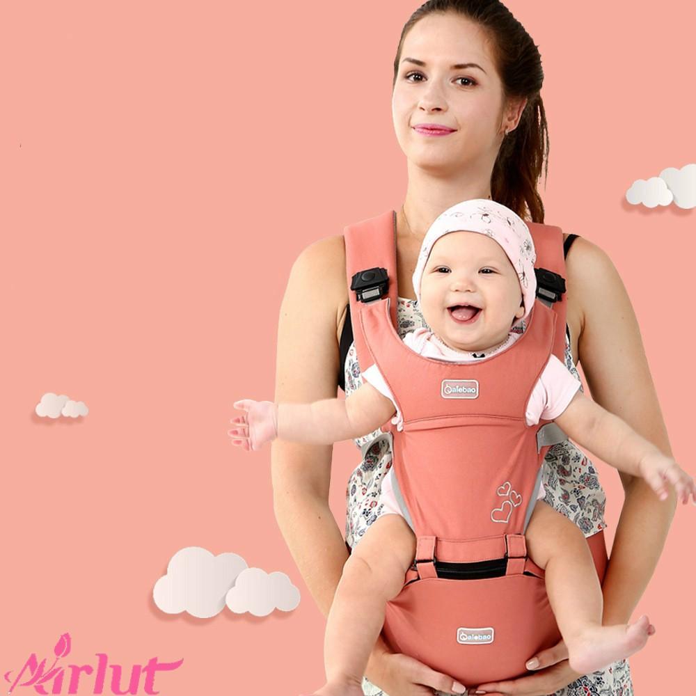 Đai địu em bé đeo trước & sau chất liệu mềm mại thoán