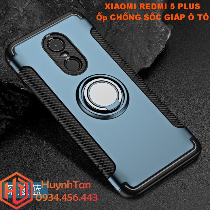 Ốp lưng Xiaomi Redmi 5 Plus _ Ốp chống sốc giáp ô tô (màu xanh đen)