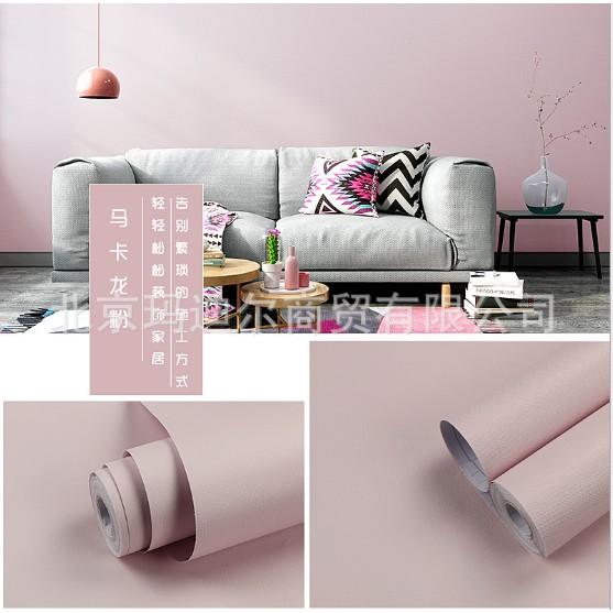 1m giấy dán tường tự dính trơn màu pastel khổ 45cm siêu sang