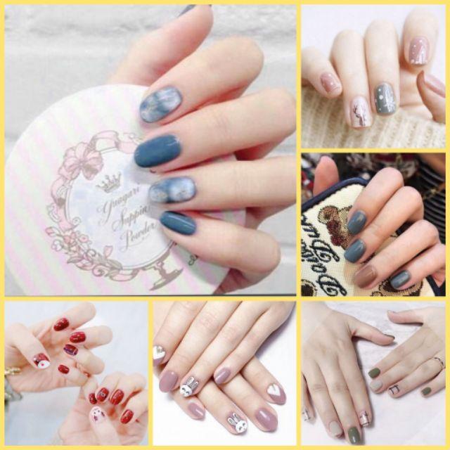 Bộ dán móng tay nail sticker gồm 14 móng, không thấm nước, có độ đàn hồi tốt