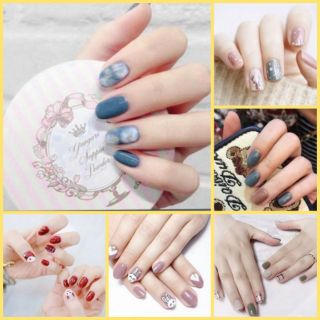 Bộ dán móng tay nail sticker gồm 14 móng, không thấm nước, có độ đàn hồi tốt thumbnail