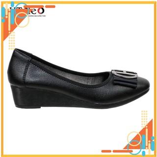 Giày nữ - gia y đe xuo ng HT.NEO da bò nguyên miếng siêu mềm kết hợp đế xuồng 3 phân tôn dáng cực đẹp, nhẹ nhàng Nu7 thumbnail