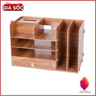 Kệ sách gỗ văn phòng nhiều ngăn. Đã lắp sẵn hàng mới