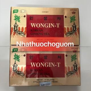 🟢🔵🔴 Chè ( trà) sâm WONGIN-T GINSENG TEA Hàn Quốc 10 hộp= 100 gói