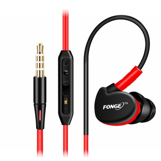 Fonge S500 HIFI Sport Running in ear earphone Super Bass Headset Waterproof IPX5 Earbuds With Mic