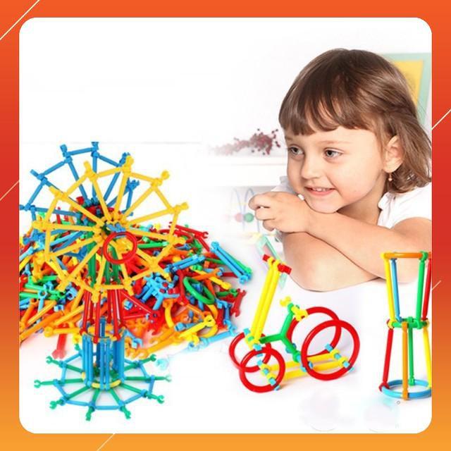 [SALE SẬP SÀN] Bộ đồ chơi xếp hình que 800 chi tiết nhiều màu   HÀNG MỚI