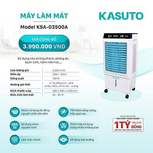 Máy làm mát không khí Kasuto KSA-3500A công nghệ Nhật Bản | Shopee ...