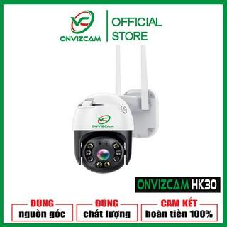 Camera không dây ONVIZCAM HK30 THÔNG MINH DÙNG wifi  ngoài trời Xoay theo chuyển động chống nước phân giải 3.0 MPx