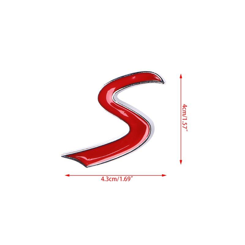 Logo Chữ S Dán Đuôi Xe Bmw Mini Cooper
